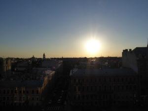 Sonne über Sankt Petersburg - weiße Nächte